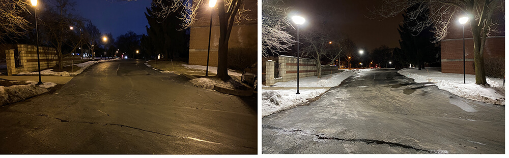Before & After Upgrading Parking Lot Lighting to LED Fixtures
