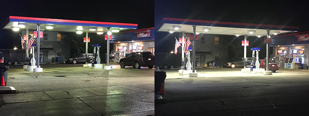 Gas station LED Lighting Upgrade