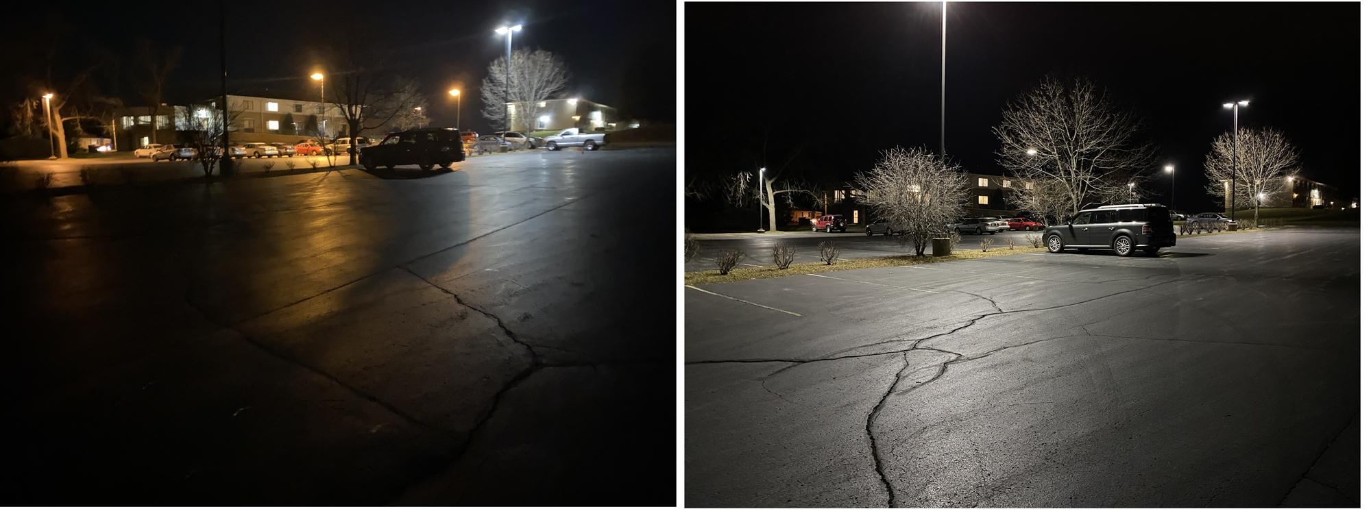 Outdoor University LED lighting for parking lot